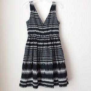J. Crew Factory   Black White Sleeveless Dress